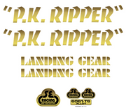 SE PK Ripper Decal Sticker Set Gold