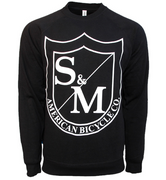 S&M Big Shield Crew Neck Sweatshirt Black / Small