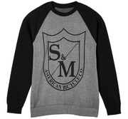 S&M Big Shield Crew Neck Sweatshirt Nickel/Black / Small