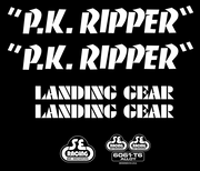 SE PK Ripper Decal Sticker Set White