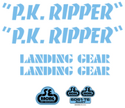 SE PK Ripper Decal Sticker Set Blue