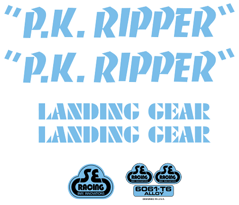 SE PK Ripper Decal Sticker Set