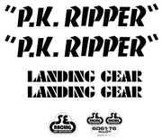SE PK Ripper Decal Sticker Set Black