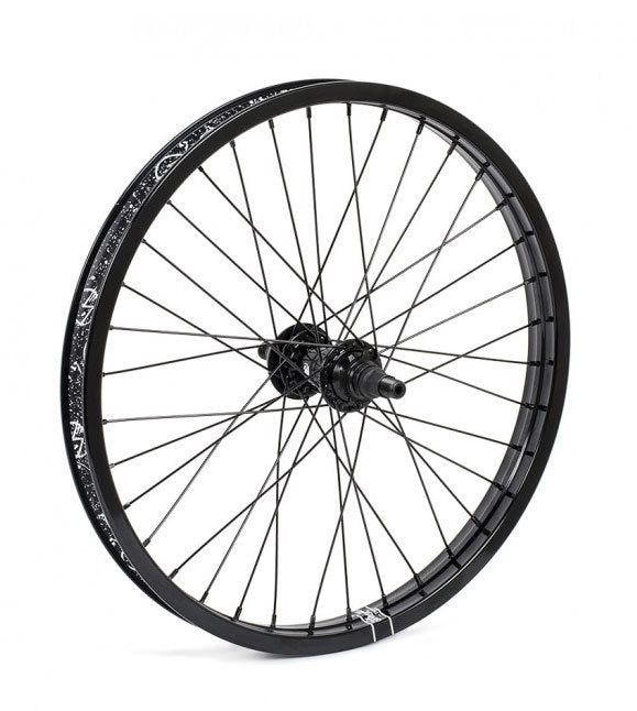 Shadow Symbol Cassette rear wheel in Black at Albe's BMX Bike Shop