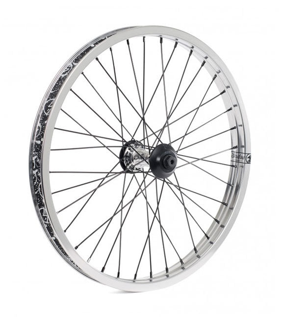 Shadow Symbol Front wheel in Polished at Albe's BMX Bike Shop