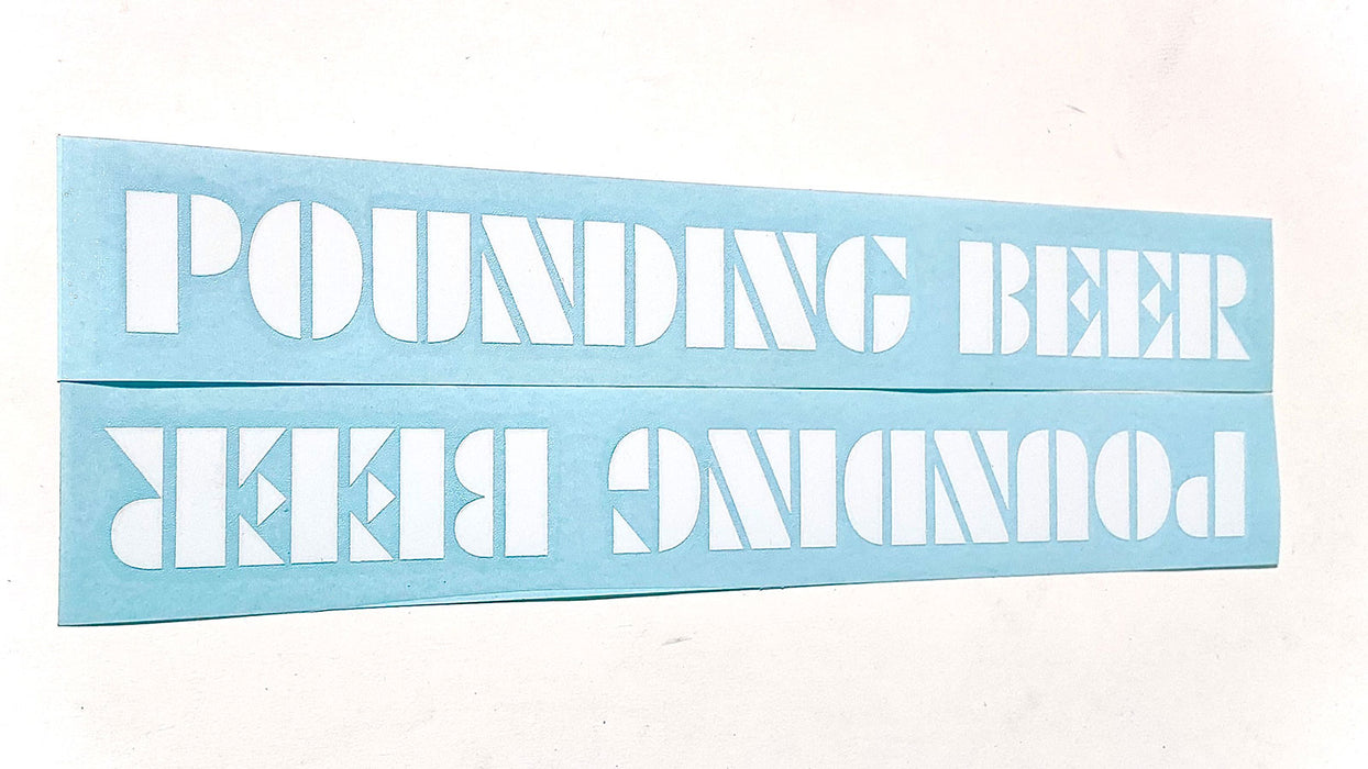 S&M Pounding Beer Stickers