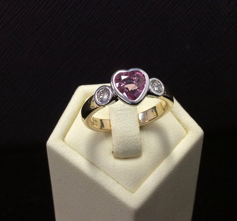 ink sapphire engagement ring