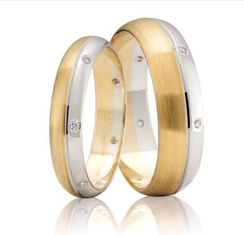 gold wedding rings diamonds