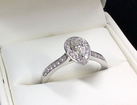 platinum handmade engagement ring