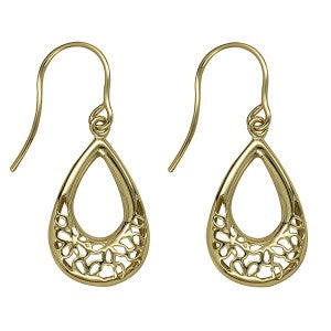 9Y Fancy Open Teardrop Earwires - Karlen Designs