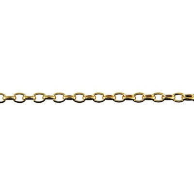 9ct Yelllow Gold Oval Belcher Chain 45cm - Karlen Designs