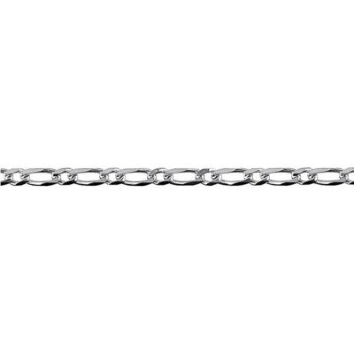 Sterling Silver Bevelled Figaro Diamond Cut Chain - Karlen Designs
