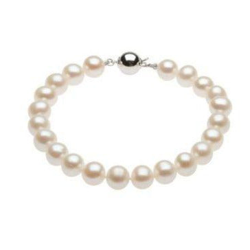 Sterling Silver 8-9 mm Freshwater Cultured Pearl Bracelet - Karlen Designs