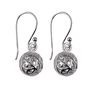 Silver Filigree Ball Earwires - Karlen Designs