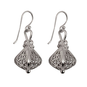 Silver Filigree Lantern Earrings - Karlen Designs