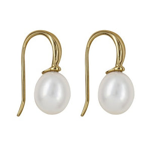 9ct gold Freshwater Pearl Drops - Karlen Designs