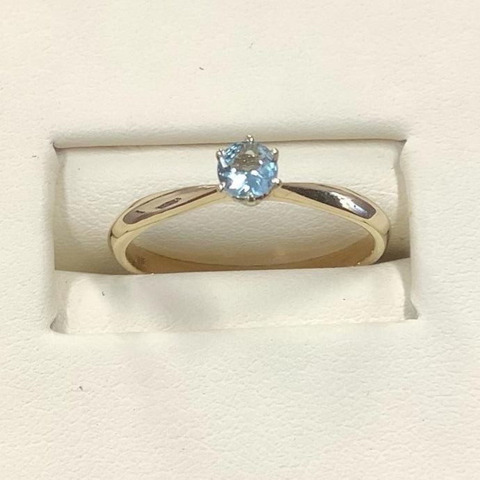 9ct Gold Aquamarine Ring - Karlen Designs