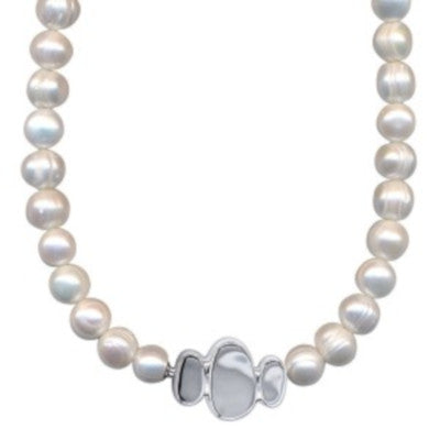 Freshwater Pearl Necklet with Silver Clasp - Karlen Designs
