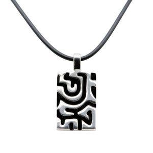 Sterling Silver Black Inlay Handmade Pendant - Karlen Designs