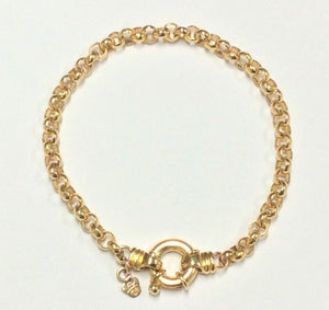 9ct Yellow gold Round Belcher Bracelet - Karlen Designs