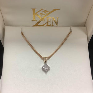 9ct gold Diamond Pendant - Karlen Designs