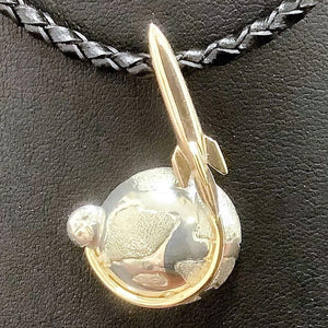 9ct & Sterling Silver Planet Pendant - Karlen Designs