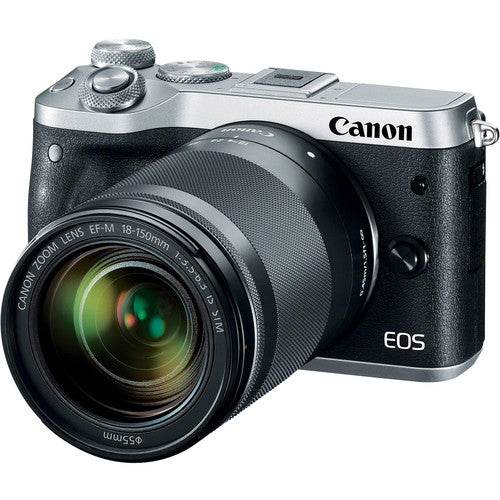 Canon EOS M6 Mirrorless Digital Camera with 18-150mm Lens (Silver)