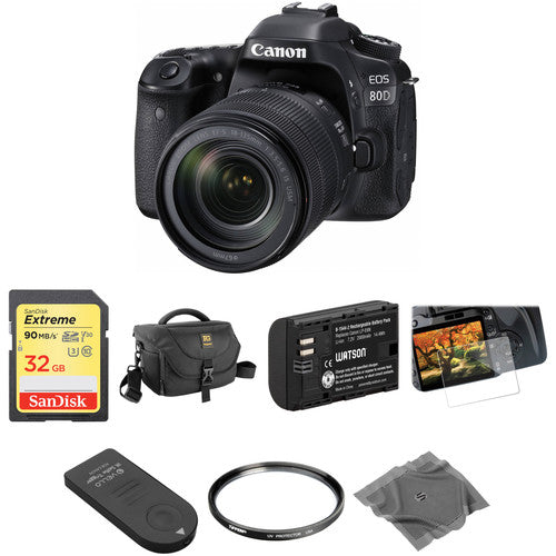 Canon EOS 80D DSLR Camera with 18-135mm Lens Basic Kit