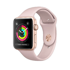 Apple Watch Series 3 42mm Gold Aluminum Case with Sport Band (Pink Sand) MQL22ZP/A