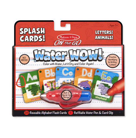 M&D ONTHEGO WATER WOW SPLASH CARDS LETTERS