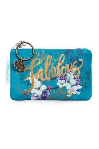 PAPAYA COIN PURSE JEWEL FLOWER