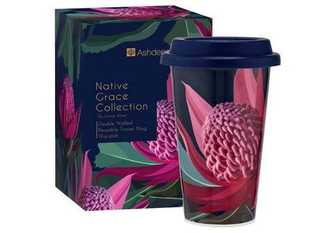 Ashdene Travel Mug Native Grace Waratah