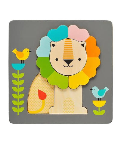 PETITE COLLAGE Puzzle Chunky Lion Wooden Tray