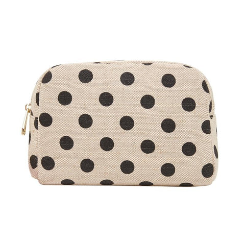 Elms & King Cosmetic Bag Lge Black Spot