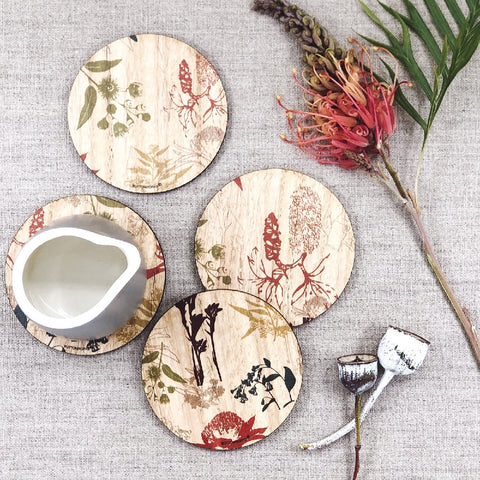 Buttonworks Coasters Flora Print