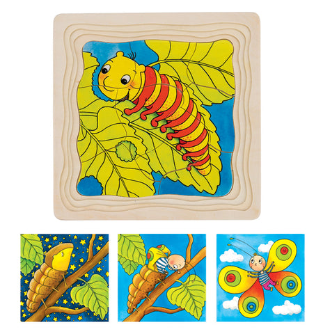 GOKI Puzzle 4Layer Caterpillar Lifecycle