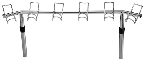 Haines Hunter, Viper Pro Series Double Wire 6 Way Stainless Steel Rod Rack