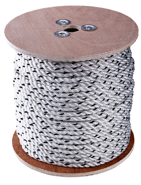 75mtrs of 8mm 3 Strand Rope Spliced To 8mtrs Of 6mm Short Link Chain – 1000kg Braking Strain