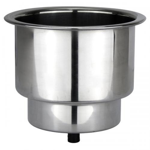 Cup / Drink Holder - Stepped Recessed - Stainless Steel