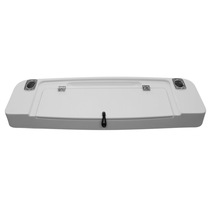 Fiberglass Bait Board - Long with 2 Rod Holders and Bait Storage