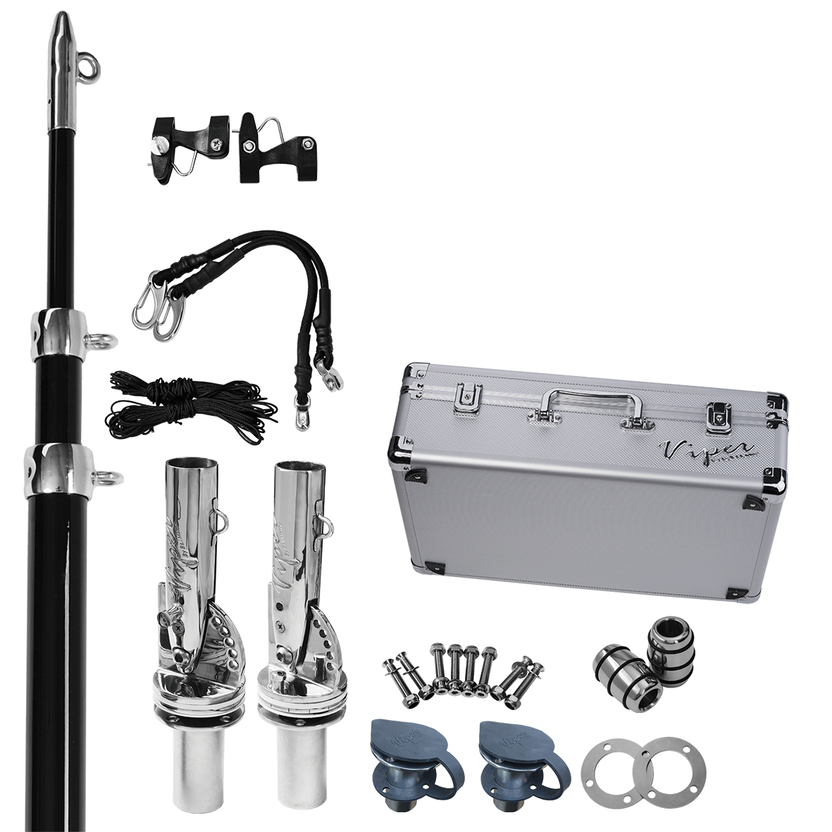 Haines Hunter, Viper Pro Series II Deck Mount Removable Telescopic Outrigger Bundle