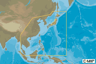 Asia North C-MAP MAX-N+ Continental Chart
