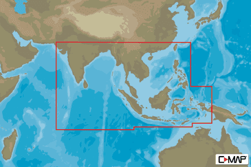 Asia South C-MAP MAX-N+ Continental Chart