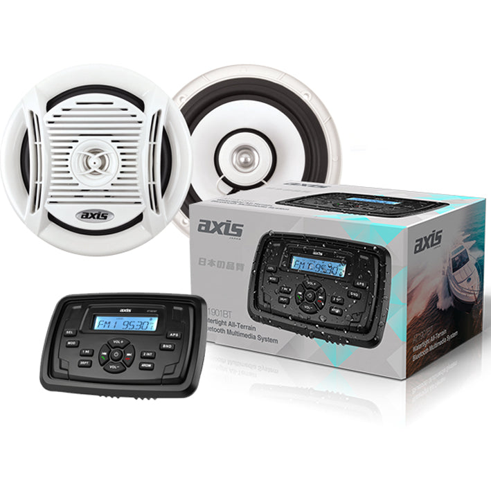 Axis AT1901BT Watertight Multimedia System and MA6502 Marine Speakers