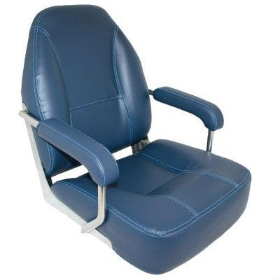 Mojo Deluxe Helm Boat Seat - Blue
