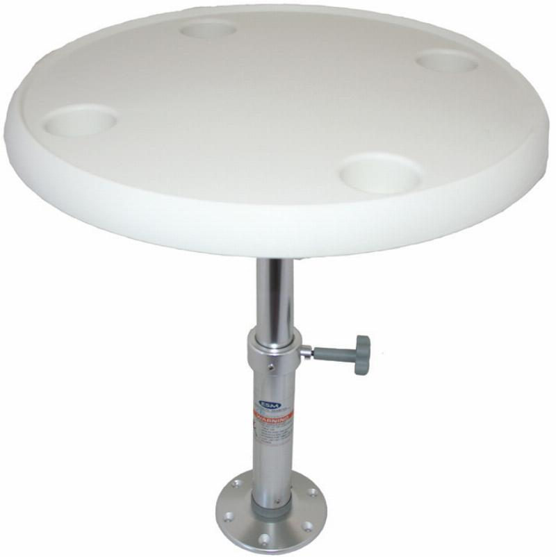 Boat Table - Round Table with Adjustable Pedestal Post