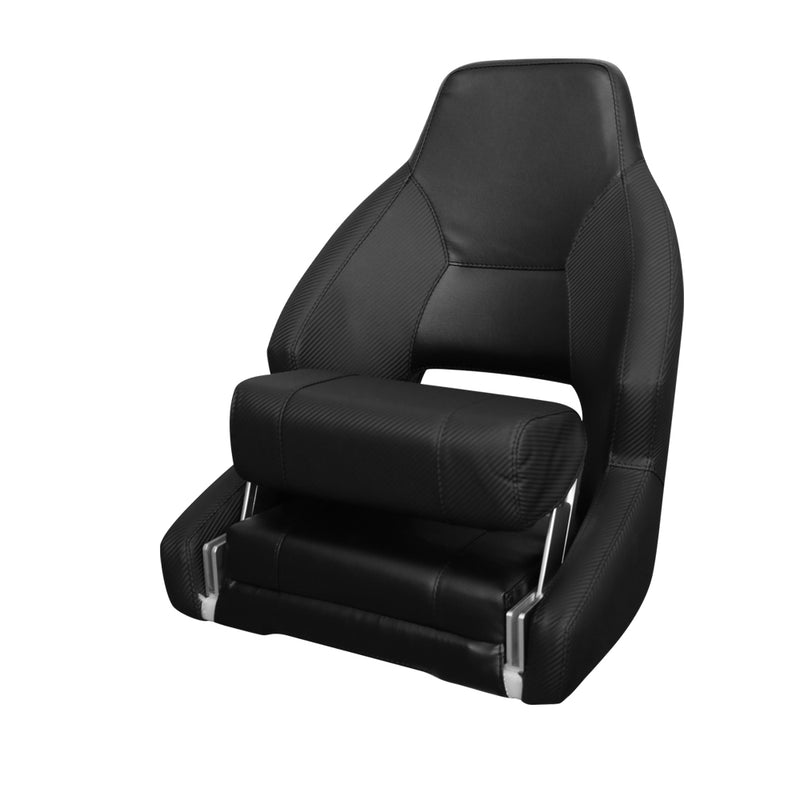 Mariner Deluxe Flip Up Helm Seat - Black