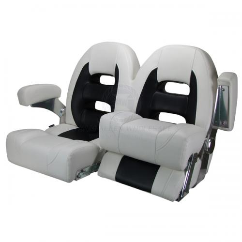 Relaxn Seats - Cruiser Series - Double - White Black