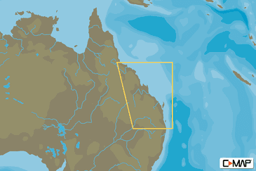 Tweed Heads To Weipa C-MAP MAX-N Local Chart