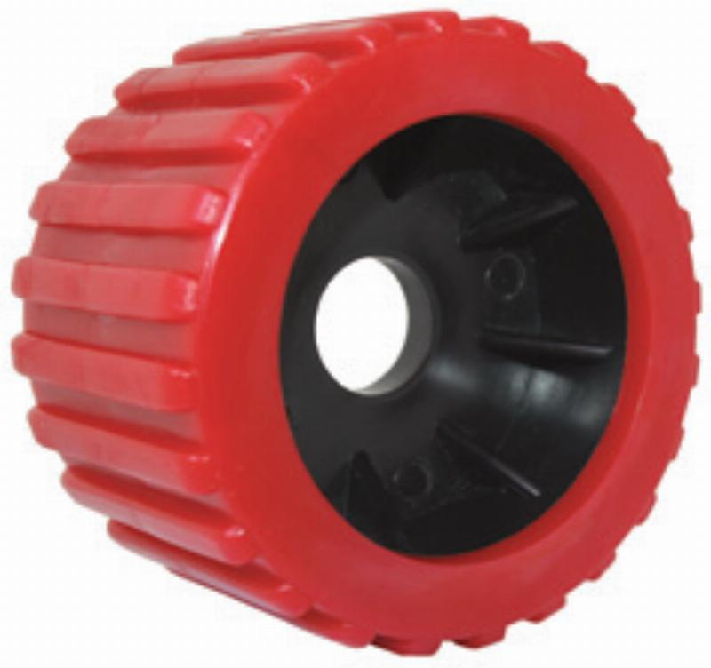 Wobble Roller - Ribbed with 25mm Hole in Red